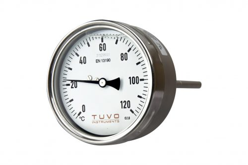TUVO Instruments GAA-100 Gas actuated thermometer back connection